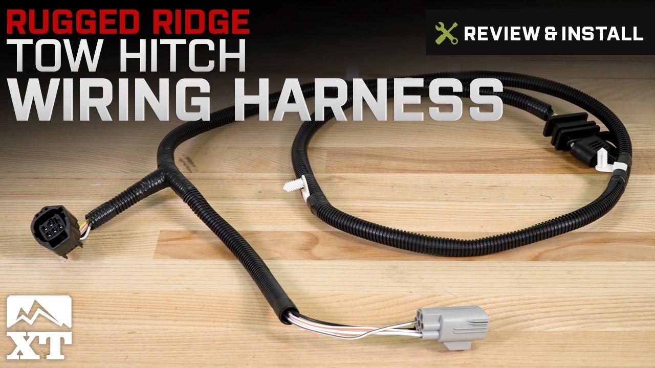 Jeep Wrangler Rugged Ridge Tow Hitch Wiring Harness