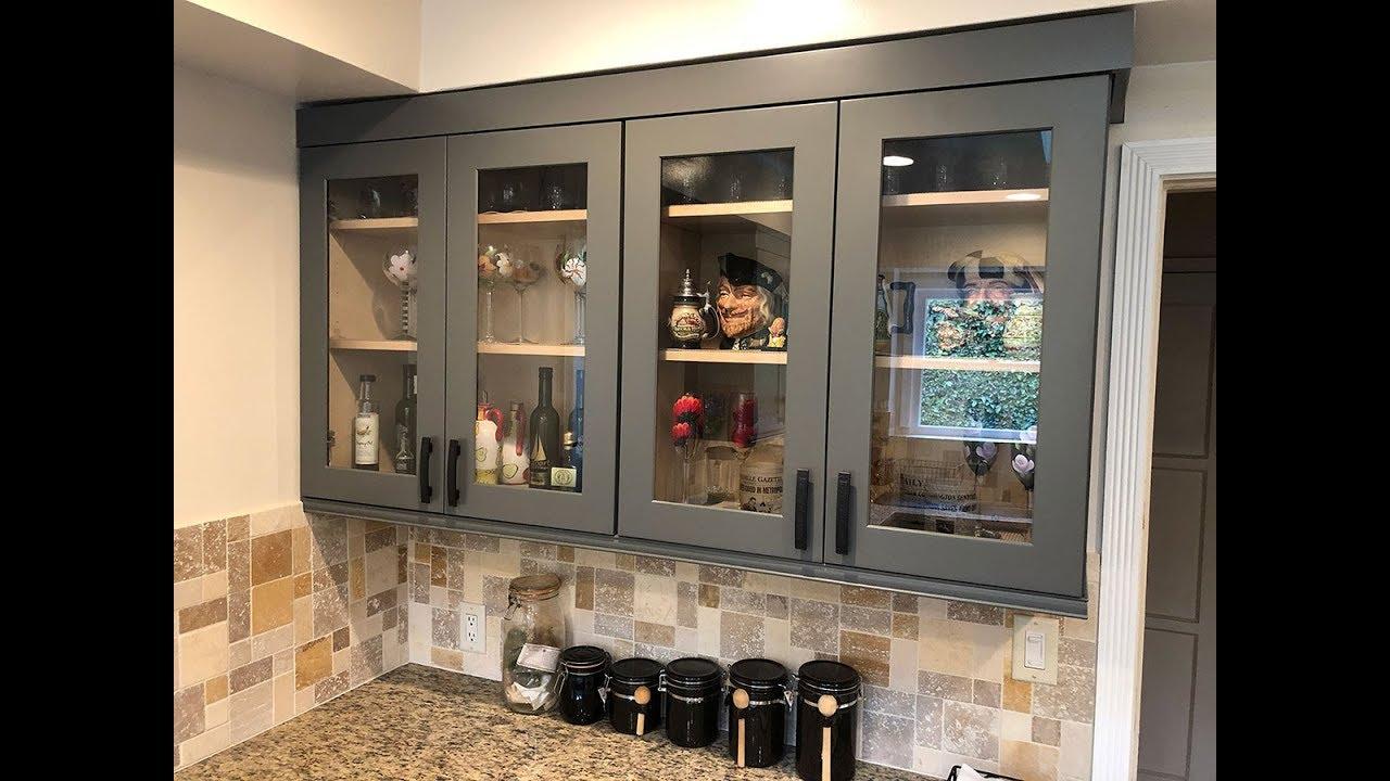 Diy Kitchen Glass Doors Youtube