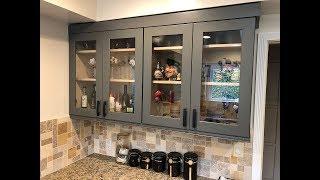 DIY Kitchen Glass Doors