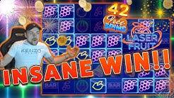 MASSIVE WIN!! Laser Fruit BIG WIN - HUGE WIN on Online Casino from Casinodady