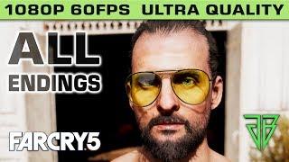 Far Cry 5 ALL ENDINGS (Good Ending / Bad Ending / Alternate Ending) - 1080p 60fps Ultra Settings