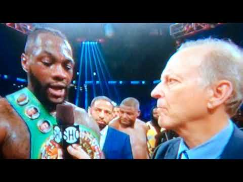 DEONTAY WILDER POST FIGHT INTERVIEW WITH JIM GRAY AFTER BEATING ORTIZ; CALLS OUT ANTHONY JOSHUA