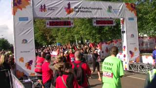 The Royal Parks Half Marathon London @ finish line - 07.10.2012
