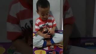 A Syihab bermain tobot z