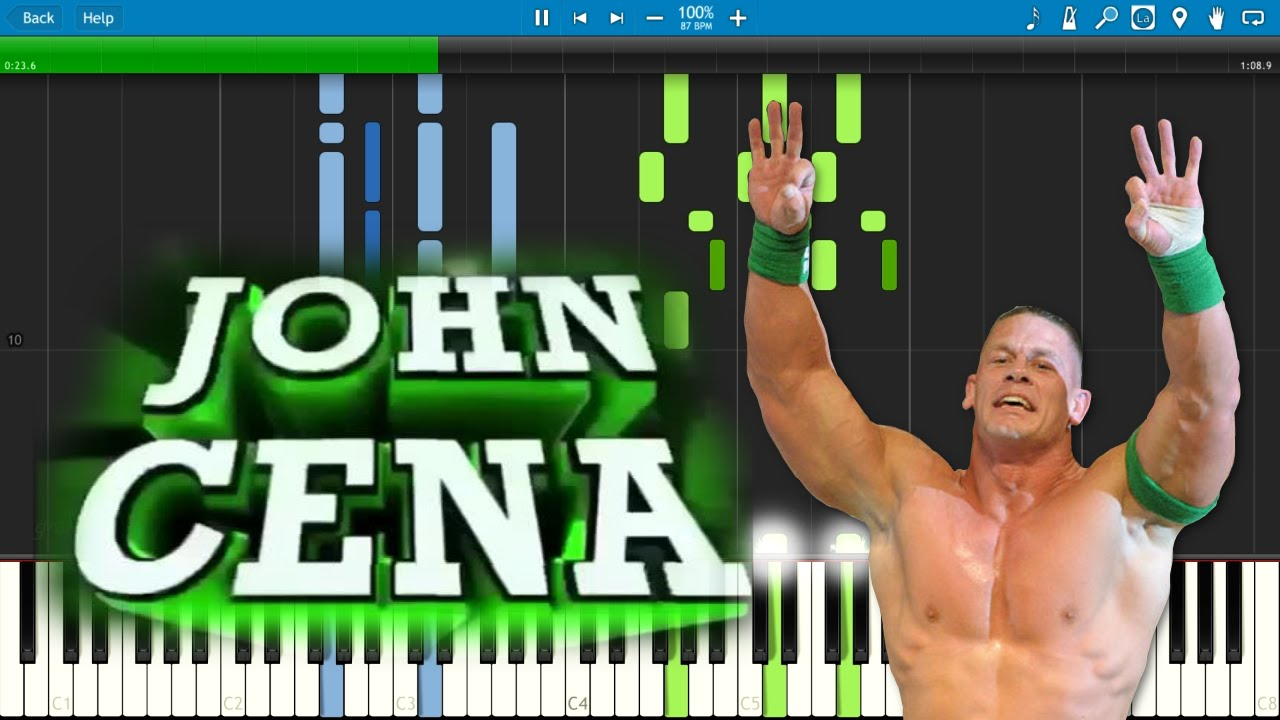maxresdefault john cena theme song (the time is now) piano cover tutorial with