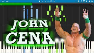 John Cena Theme Song (The Time Is Now) - Piano Cover / Tutorial with Sheet Music