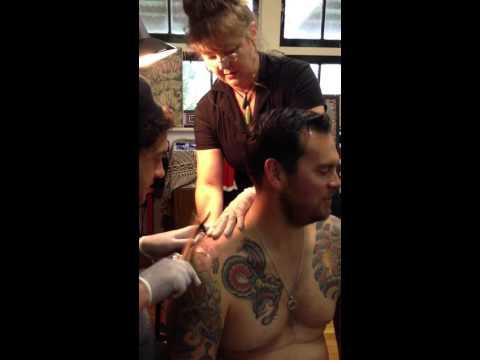 Traditional Maori tattoo in New Zealand