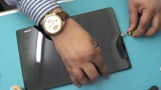 Repeat youtube video How to replace sony xperia z2 tablet Broken lcd screen