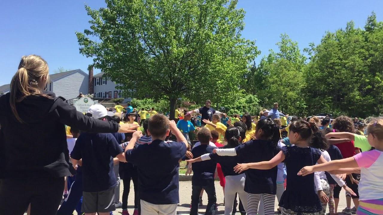 BOKS stretching at Clifford Marshall Elementary school
