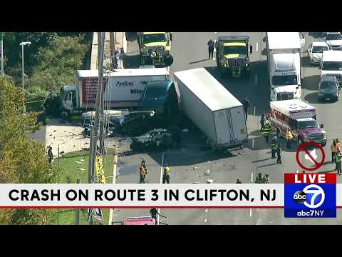 Serious crash on Route 3 in Clifton, NJ