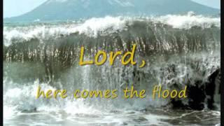 Peter Gabriel & Robert Fripp - Here comes the flood (lyrics on clip)