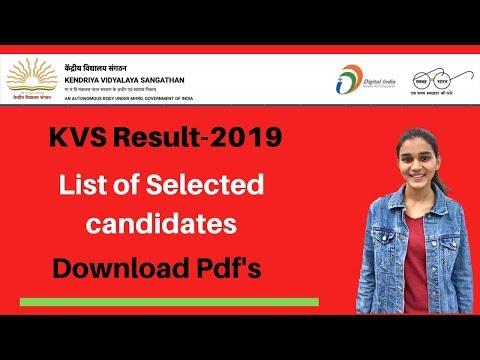 KVS-2019 Result Out