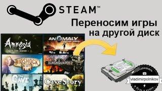 Как перенести игры Steam на другой диск
