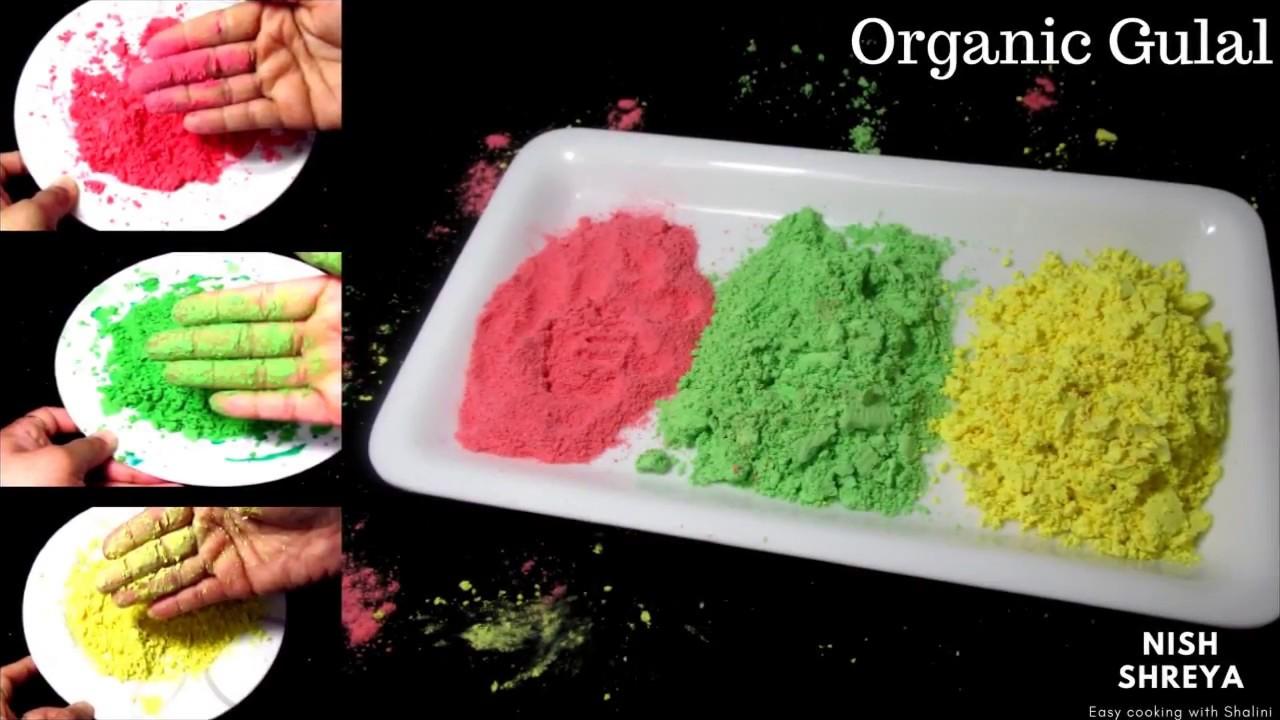 DIY! Homemade Gulal | How To Make Organic Colors For Holi - YouTube