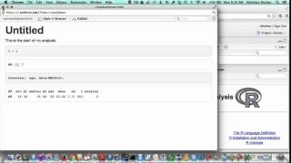 Getting started with RStudio: second steps with R Markdown