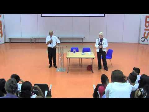 Steve Shirley talks to LBTS students