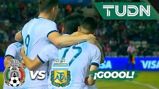Goool de Robertone | México 2 - 2 Argentina | Amistoso Sub 22 | TUDN