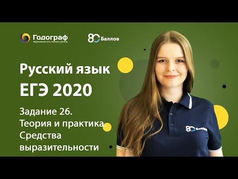 ЕГЭ по Русскому языку 2020. Задание 26. Теория и практика. Средства выразительности
