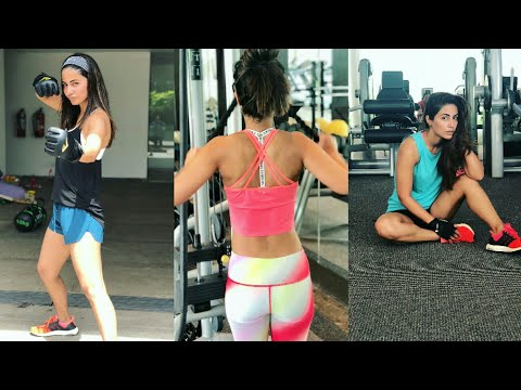Hina Khan Hot Workout in Gym/Weight loss exercise