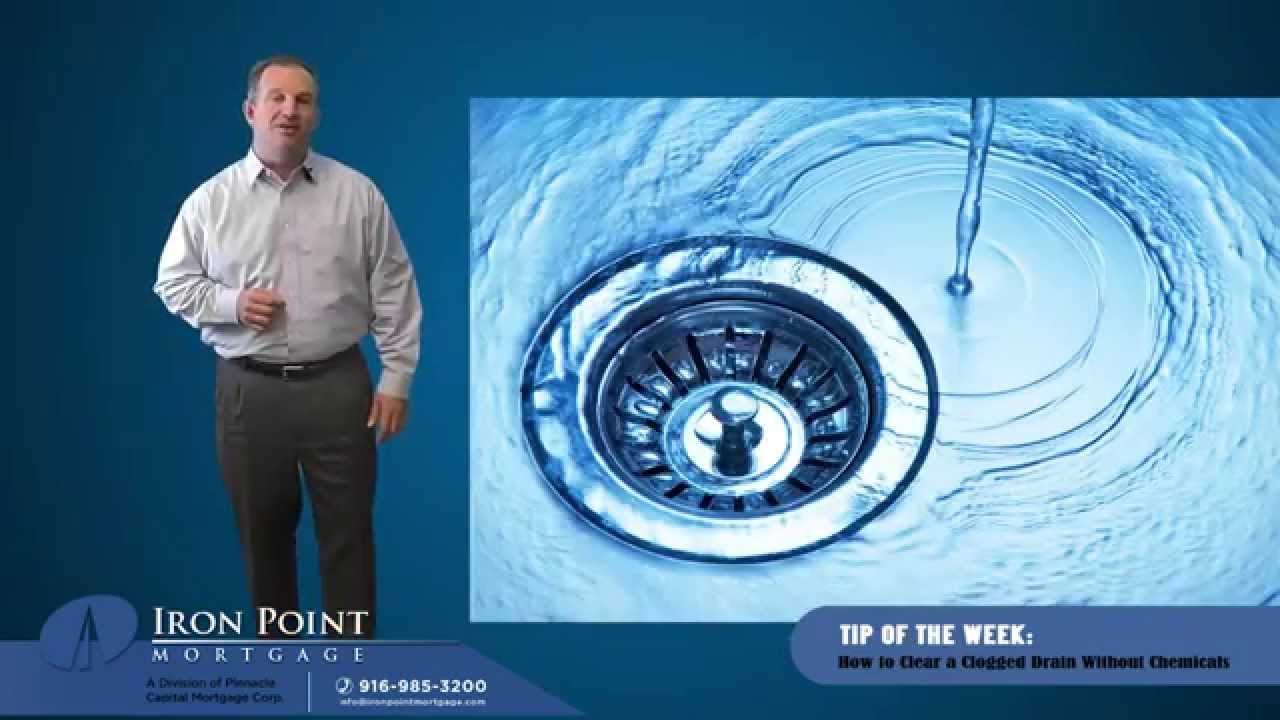 How to Clear a Clogged Drain Without Chemicals - YouTube