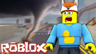 ROBLOX || A TSUNAMI HITS THE HIGH SCHOOL!! w/DONUT THE DOG & BABY MAX