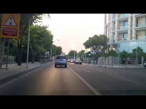 Driving through Limassol, Cyprus (Oct 15, 2014)