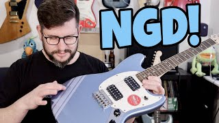 NGD: Squier Bullet Mustang HH FSR Competition Blue Unboxing & first Impressions From Andertons