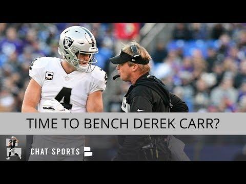 Oakland Raiders Rumors: Bench Derek Carr, Start AJ McCarron, Jordy Nelson Decoy & 2019 NFL Draft