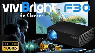 Powerful!!! ViviBright F30 Full Hd 1080p LED 4200 Lumen Keystone Projector
