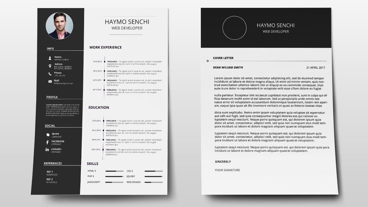 Cover Letter Template Design With Photoshop