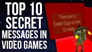 Top 10 Secret Messages in Video Games!