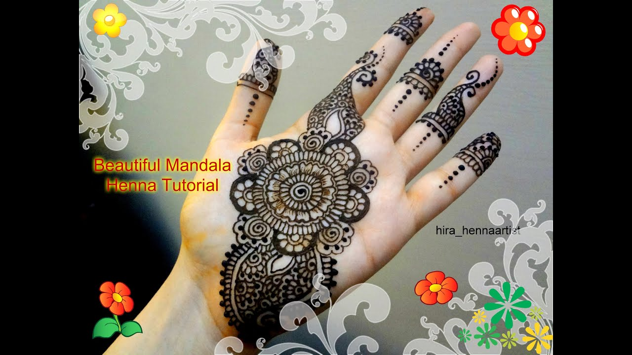 Beautiful Mehndi Design Tutorial : My eid henna beautiful mehndi mandala tutorial for