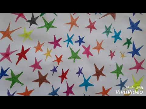 How To Colour Star Rengareng Yildiz Cizimi Ve Kolay Yildiz Boyama