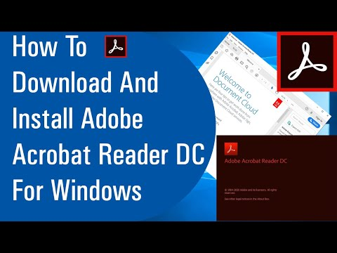 How To Download And Install Adobe Acrobat Reader DC For Windows 10/8/7