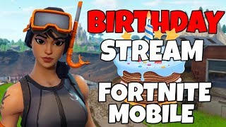 Fortnite Mobile Birthday Stream // Android Download! // New Jetpack // Fortnite Mobile Livestream