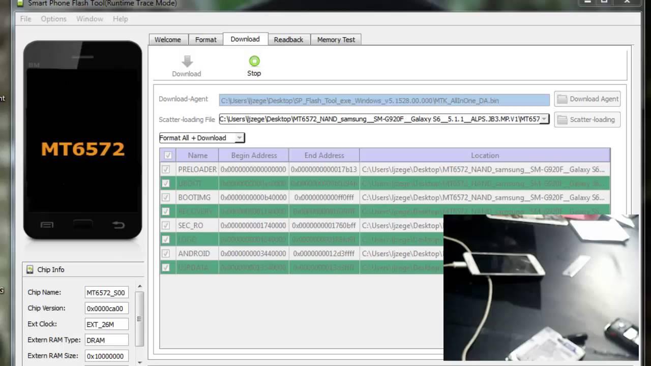 Unbrick Flash S6 G920F / G900F China Clone MT6572 Single Sim Card