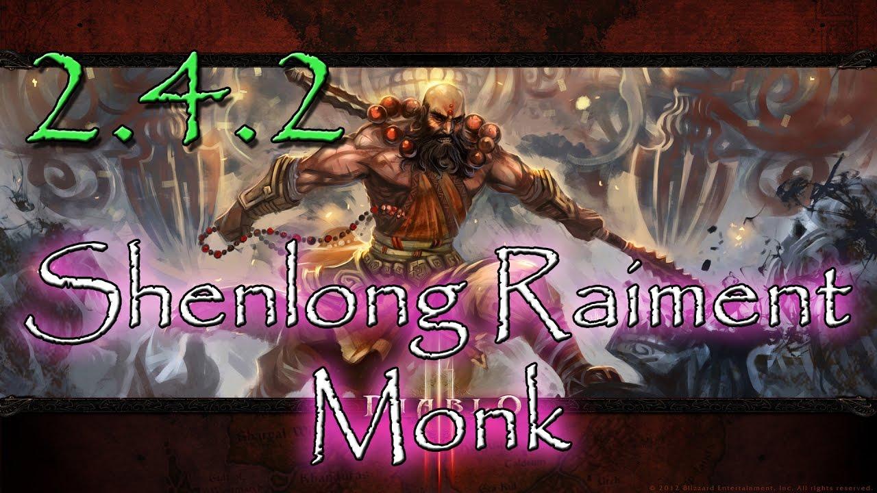 DIABLO 3 2 4 2 SHENLONG RAIMENT MONK BUILD! Fist As Fast As Lightning!