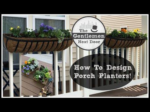DIY: How To Design Farmhouse Porch Flower & Herb Planters | The Gentlemen Next Door