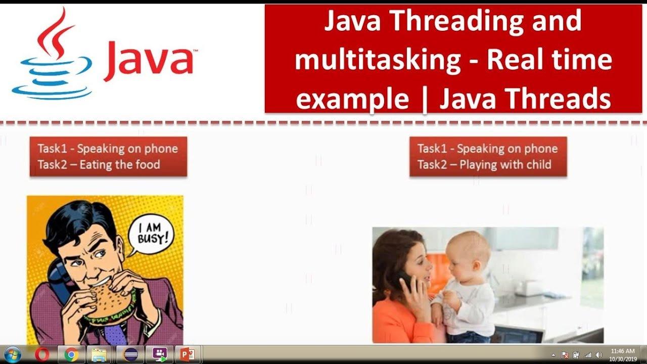 Java multithreading examples.