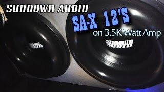 Shark SHKAMP-3500D w/ 2 Sundown Audio X-12