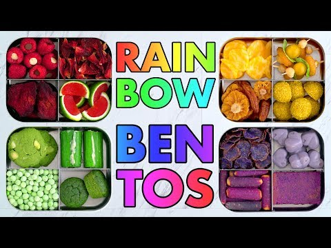 Rainbow Bento Snack Boxes! Colorful Vegan + Vegetarian Recipes Inspiration! – Mind Over Munch!