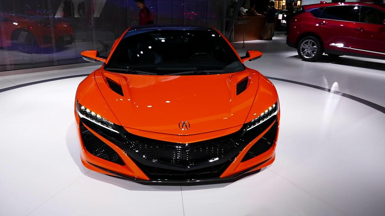 new 2019 acura nsx exotic sports car - orange