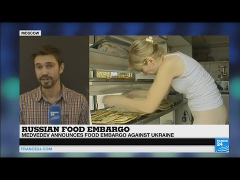 Russia: Medvedev announces food embargo against Ukraine, costing 1.3 billion € to the country