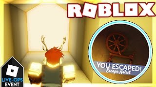 [LIVE-OPS] How to beat ESCAPE ARTIST + GET A BADGE in ESCAPE ROOM | Roblox