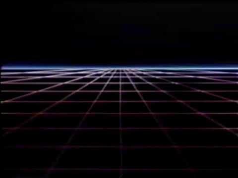 Neon Grid From 1980s Loop