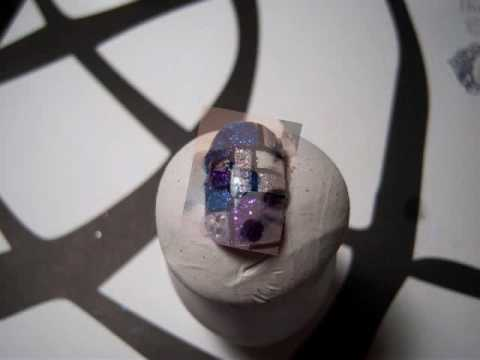 Glitter Stain Glass Nail Design-Entry To LuxuriousNails First Contest/Giveaway