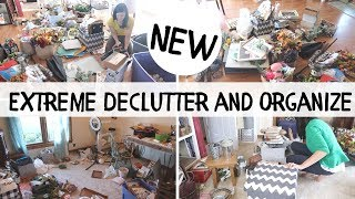 EXTREME DECLUTTER AND ORGANIZE || REAL LIFE MESS | MOTIVATIONAL CLEAN AND ORGANIZE WITH ME