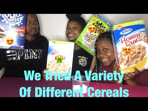 Weird Cereal Challenge W/ Our Best Friend👑 // The Mad Twinz✨