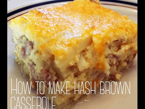 Slow Oven Bacon, Egg Hash Brown Casserole