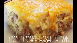 How To Make A Cheesy Bacon Hash Brown Casserole Recipe
